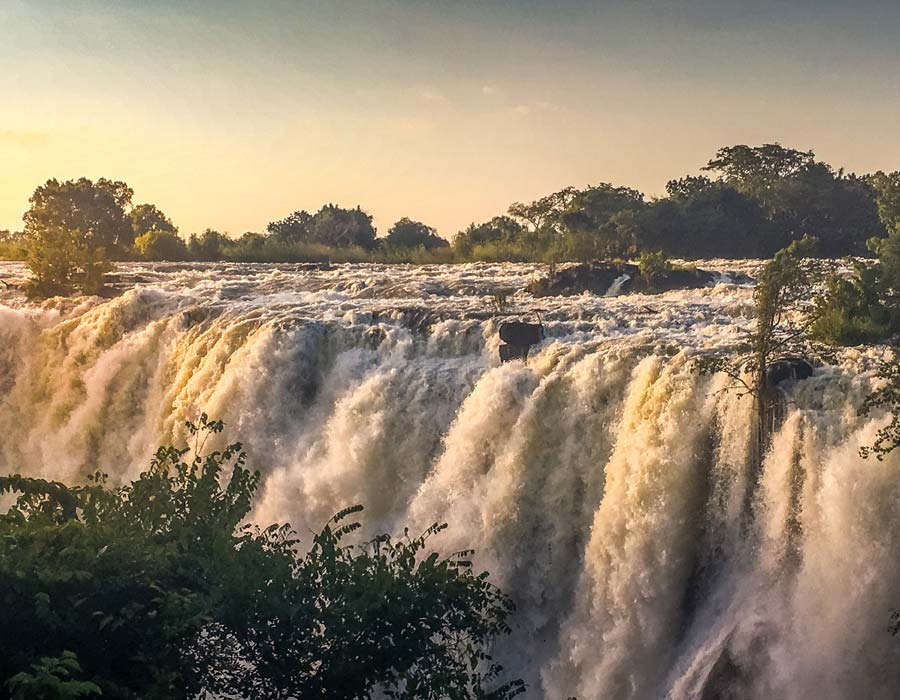 Zambia water fall